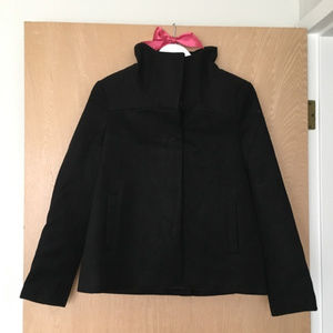 Old Navy Black Funnel Neck PeaCoat